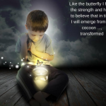 like the butterfly i have strength and hope