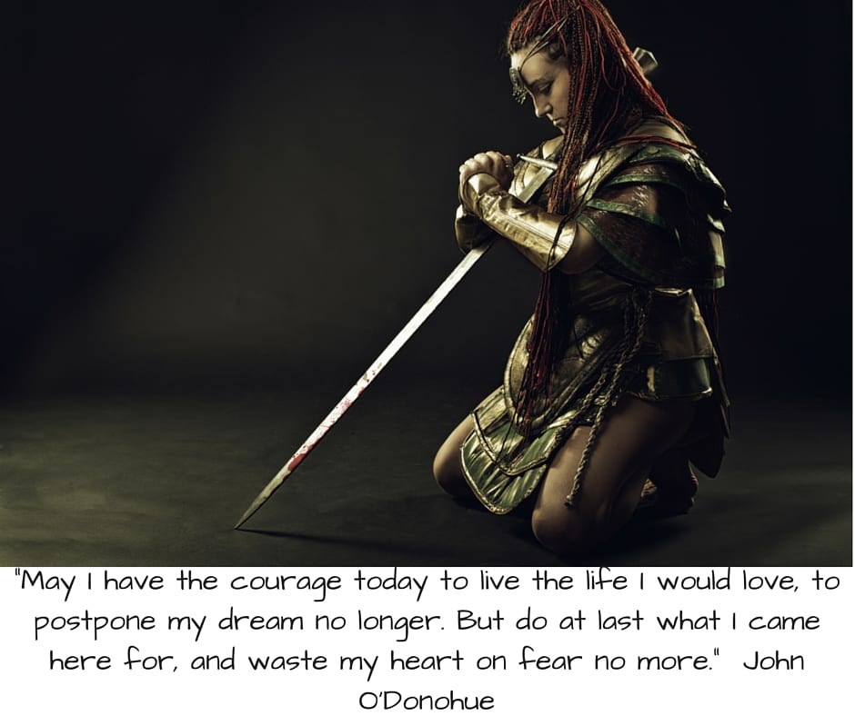 May I have the courage today to live the life I would love, to postpone my dream no longer. But%2
