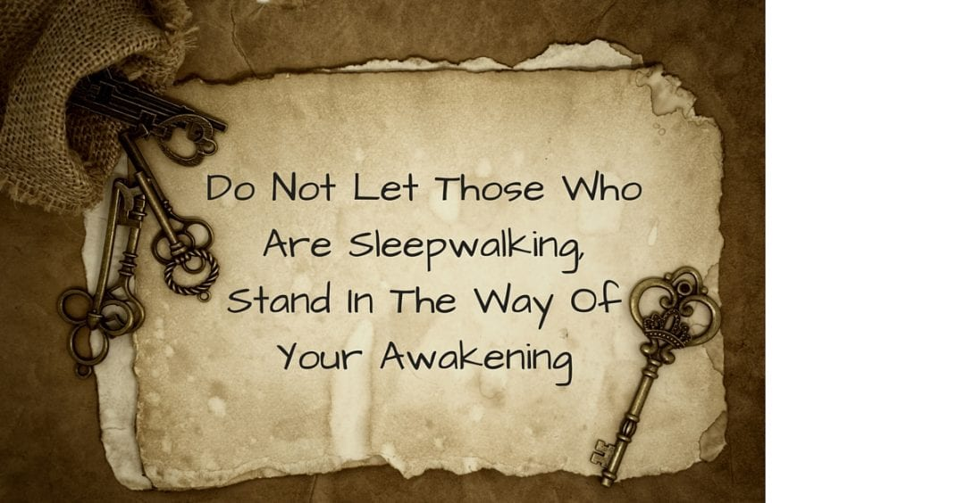 Do Not Let Those Who Are Sleepwalking,Stand In The Way Of Your Awakening